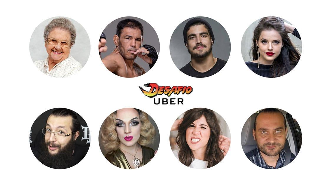 Famosos disputam o Desafio Uber