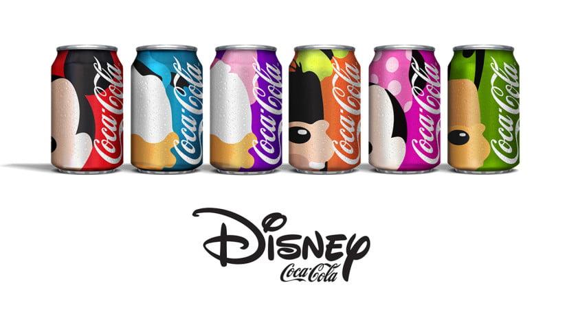 Coca-Cola ganha latas personalizadas da Disney em projeto de um famoso designer