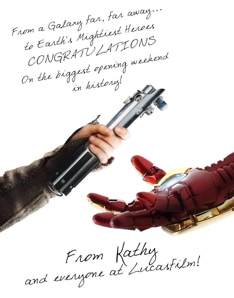 """Star Wars """"passa o bastão"""" de maior bilheteria de estreia para Vingadores: Guerra Infinita em homenagem emocionante"""