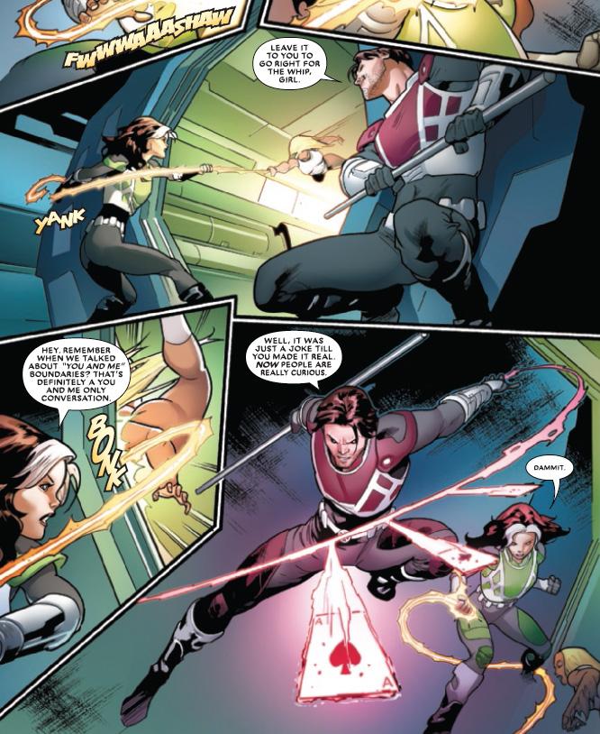 Gambit e Vampira aparecem com novos uniformes em Mr. and Mrs. X