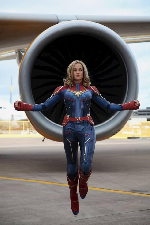 Capitã Marvel ganha estátua de cera para o Museu Madame Tussauds