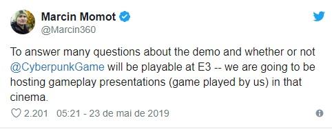 Cyberpunk 2077 | Jogo será demonstrado na E3 2019