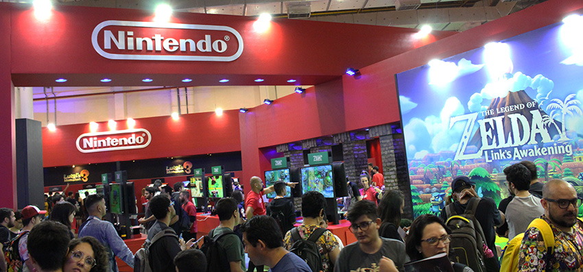 Estande da Nintendo na Brasil Game Show 2019