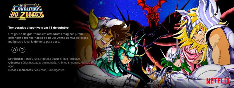 Cavaleiros do Zodíaco   Anime original chega neste mês de outubro à Netflix