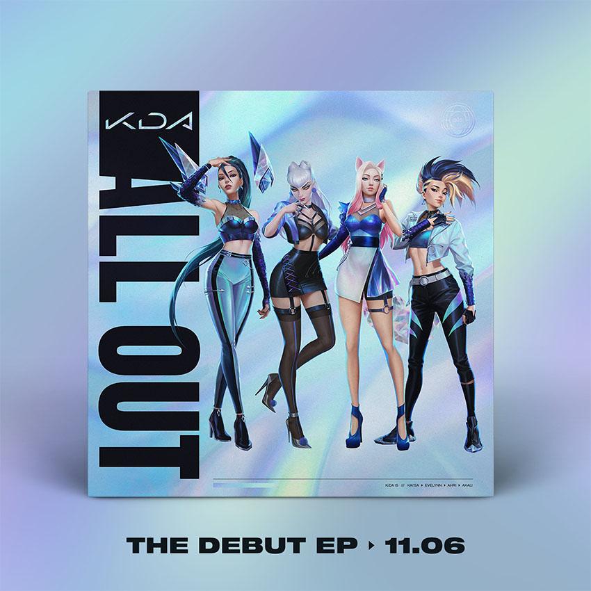 Primeiro EP do grupo virtual K/DA ganha data de lançamento